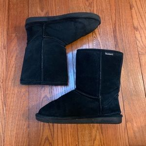 Black suede Bearpaw boots